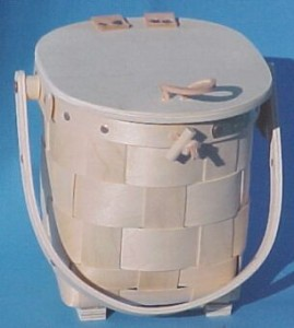 The Basket Man - Round Mini Purse with Lid
