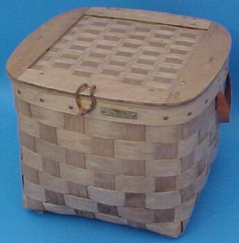 The Basket Man - Hat Box with Matted Lid