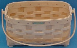 The Basket Man - Sewing Basket - Wooden Handles