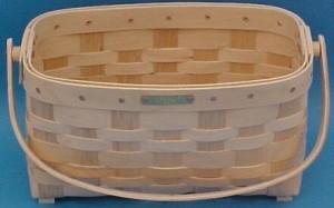 The Basket Man - Sewing Basket - Wooden Handles