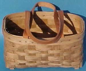 The Basket Man - Sewing Basket - Leather Handles