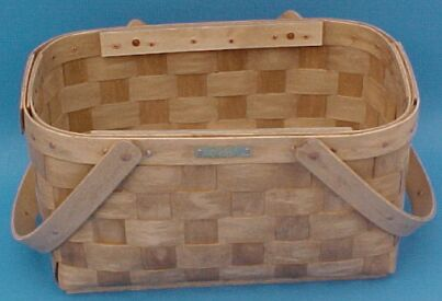 The Basket Man - Two Handled Market Basket with Solid Lid